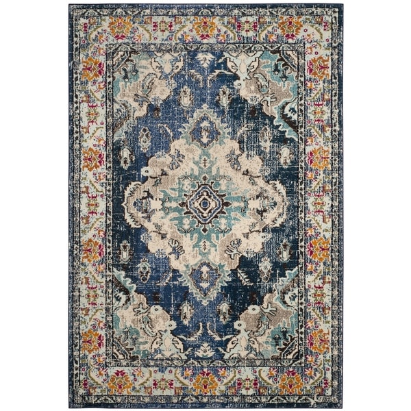 Safavieh Monaco Vintage Bohemian Navy Light Blue Rug 8