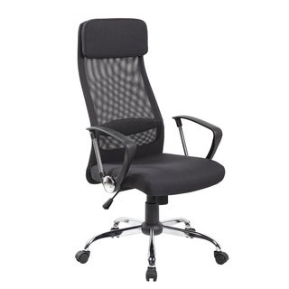 Executive Mesh and Fabric High-back Adjustable-headrest Office Chair