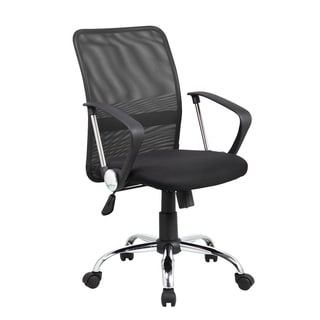 8075-BK Black Mesh Task Chair With Adjustable Seat Height and Lumbar Support