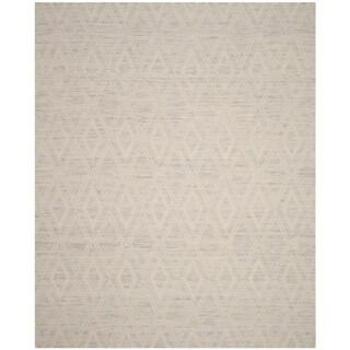 Safavieh Handmade Marbella Asya Modern Wool Rug (8 x 10 - Silver/Ivory)