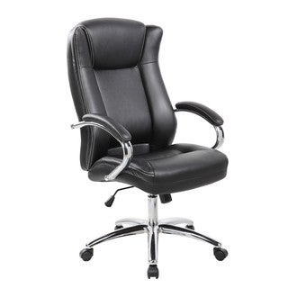 9042-1 Executive High-back PU/PVC Leather Office Chair With Thick Padded Back, Seat and Armrests