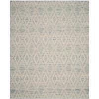 Safavieh Marbella Handmade Vintage Diamond Light Blue/ Ivory Wool Rug - 8' x 10'