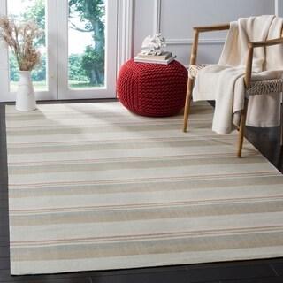 Safavieh Marbella Handmade Contemporary Striped Multi Wool Rug (8' x 10')