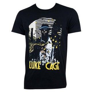 Shop Luke Cage Indestructible Black Cotton T Shirt Free