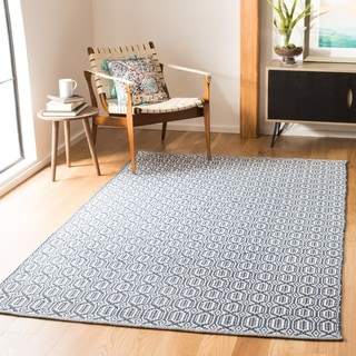 Safavieh Montauk Handmade Geometric Flatweave Ivory/ Grey Cotton Rug (8' x 10')