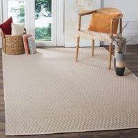 Safavieh Montauk Handmade Geometric Flatweave Ivory/ Grey Cotton Rug - 8' x 10'