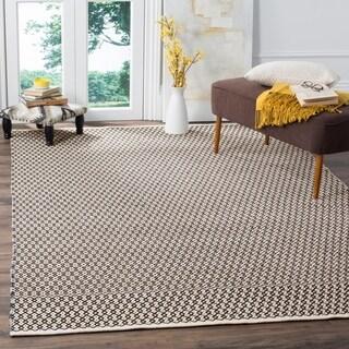 Safavieh Montauk Handmade Geometric Flatweave Ivory/ Black Cotton Rug (8' x 10')