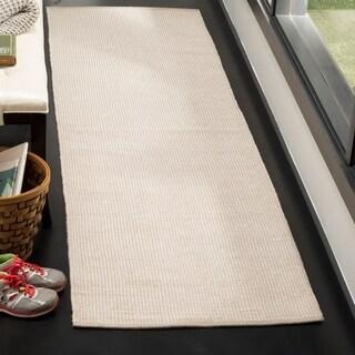 Safavieh Hand-Woven Montauk Flatweave Ivory/ Navy Cotton Rug (8' x 10')