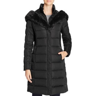 T Tahari Felicity Black Down Puffer Coat