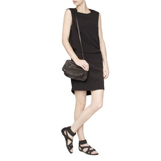Theyskens Theory Women's Dinta Black Wool-blend Tie-back Dress (2 options available)