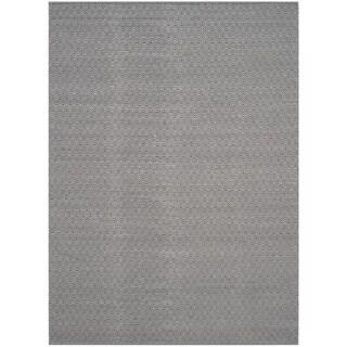 Safavieh Montauk Handmade Geometric Flatweave Ivory/ Navy Cotton Rug (9' x 12')