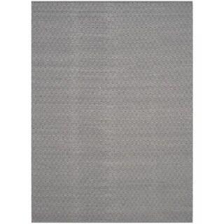 Safavieh Handmade Flatweave Montauk Eliina Casual Cotton Rug (8 x 10 - Ivory/Navy)