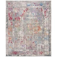 Safavieh Mystique Watercolor Grey Multi Silky Rug - 9' x 12'