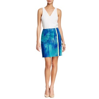 Elie Tahari Elva Blue Floral Cotton Mini Skirt