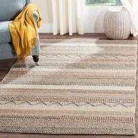 Safavieh Natura Handmade Bohemian Beige Wool Rug - 9' x 12'