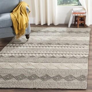 Safavieh Natura Handmade Bohemian Grey/ Ivory Wool Rug (9' x 12')