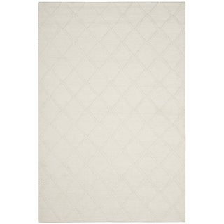 Safavieh Natura Handmade Diamond Trellis Ivory Wool Rug (9' x 12')