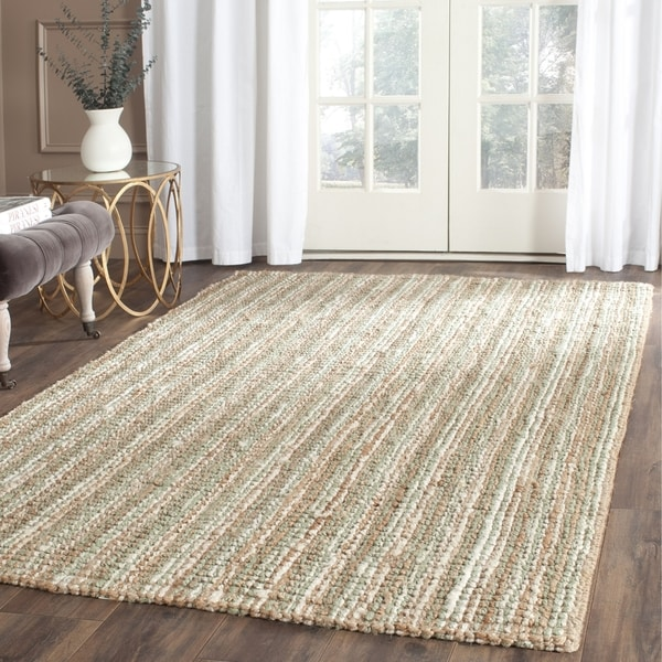 Safavieh casual natural fiber chunky thick handmade sage for Thick area rugs sale