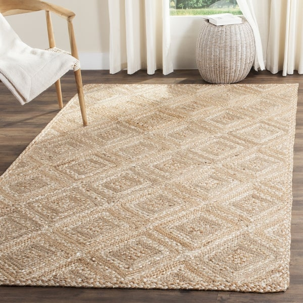 Safavieh Natural Fiber Diamond Weave Contemporary Handmade Jute Rug 10 X27