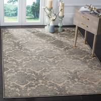 Safavieh Paradise Damask Cream/ Slate Blue Viscose Rug (8' x 11' 2)