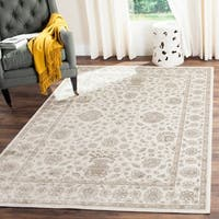 Safavieh Persian Garden Traditional Silver/ Cream Viscose Rug - 8' x 10'