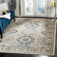 Safavieh Persian Garden Traditional Silver/ Ivory Viscose Rug - 8' x 10'