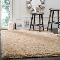 Safavieh Polar Shag Light Beige Fluffy Silken Rug - 9' x 12'
