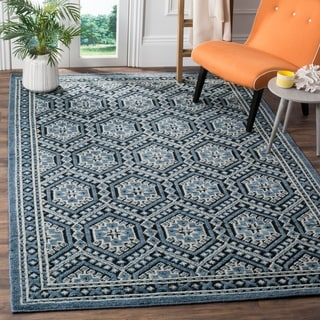Safavieh Paseo Hand-Knotted Navy Wool Rug (8' x 10')