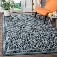 Shop Safavieh Paseo Hand Knotted Blue Wool Rug 8 X 10