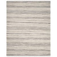 Safavieh Hand-Woven Rag Cotton Rug Ivory/ Grey Cotton Rug - 8' x 10'