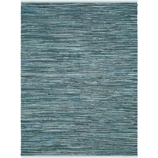 Safavieh Hand-Woven Rag Cotton Rug Turquoise/ Multicolored Cotton Rug (8' x 10')
