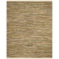 Safavieh Hand-Woven Rag Cotton Rug Yellow/ Multicolored Cotton Rug - 8' x 10'