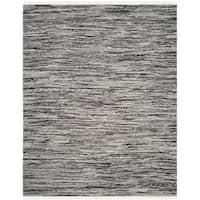 Safavieh Hand-Woven Rag Cotton Rug Grey Cotton Rug (8' x 10')