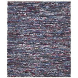 Safavieh Hand-Woven Rag Cotton Rug Blue/ Multicolored Cotton Rug (8' x 10')