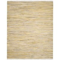 Safavieh Hand-Woven Rag Cotton Rug Gold/ Multicolored Cotton Rug - 8' x 10'
