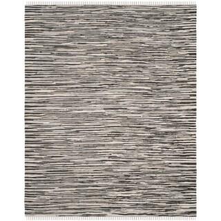 Safavieh Hand-Woven Rag Cotton Rug Black/ Multicolored Cotton Rug (8' x 10')