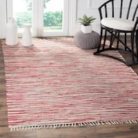 Safavieh Hand-Woven Rag Cotton Rug Red/ Multicolored Cotton Rug - 8' x 10'