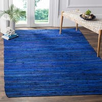 Safavieh Hand-Woven Rag Cotton Rug Blue/ Multicolored Cotton Rug - 8' x 10'
