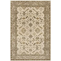 Safavieh Royalty Traditional Handmade Cream/ Light Grey Wool Rug - 8' x 10'