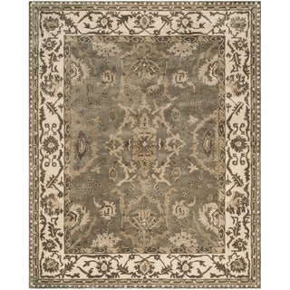 Safavieh Royalty Traditional Handmade Grey/ Cream Wool Rug (8' x 10')