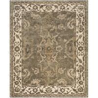 Safavieh Royalty Traditional Handmade Grey/ Cream Wool Rug (8' x 10')