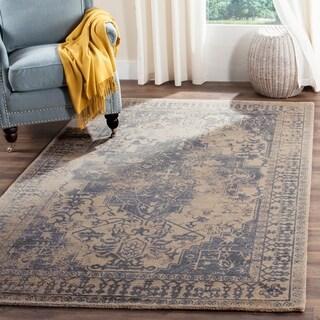 Safavieh Restoration Vintage Oriental Handmade Blue/ Grey Wool Rug (10' x 14')