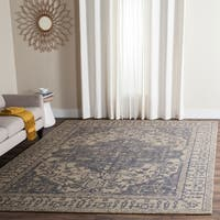 Safavieh Handmade Restoration Vintage Oriental Blue/ Grey Wool Rug - 9' x 12'