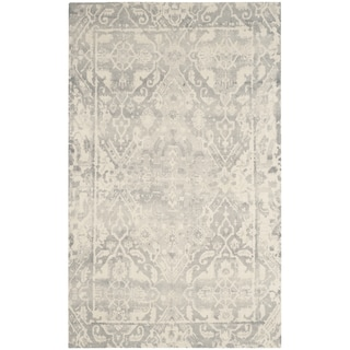 Safavieh Restoration Vintage Oriental Handmade Light Grey/ Ivory Wool Rug (10' x 14')
