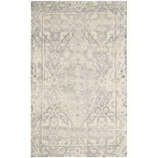 Safavieh Restoration Vintage Oriental Handmade Light Grey/ Ivory Wool Rug (9' x 12')