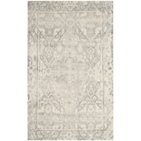 Safavieh Handmade Restoration Vintage Light Grey / Ivory Wool Distressed Rug - 9' x 12'