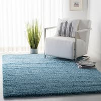 Safavieh California Cozy Plush Turquoise Shag Rug (8' 6 x 12')