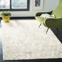 Safavieh Studio Leather Modern Handmade Ivory Leather Rug - 8' x 10'