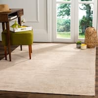 Safavieh Stone Wash Contemporary Hand-Knotted Beige Wool Rug - 8' x 10'