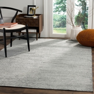 Safavieh Stone Wash Contemporary Hand-Knotted Blue Wool Rug (8' x 10')